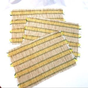 Cottage Core Hand Woven Placemats
